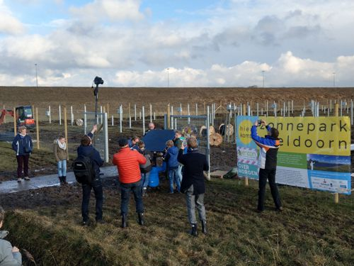 First module placed at solar park Apeldoorn