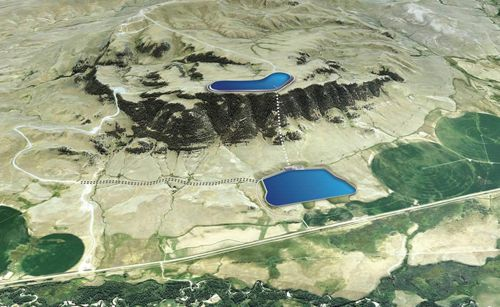 Gordon butte pumped storage hydro